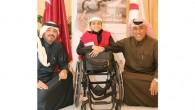 Saleh bin Ali Al Mohannadi and Ameer Al Mulla with Ghanem Mohamed Al-Moftah.